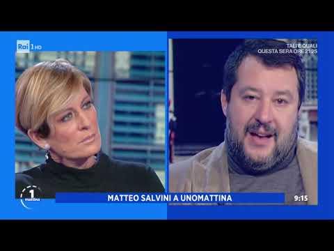 Matteo Salvini sul fondo salva-Stati - Unomattina 22/11/2019