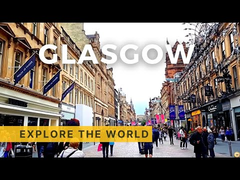 Walking in Glasgow, UK