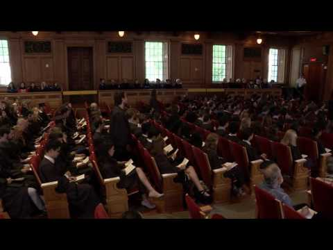 Convocation 2016: Phi Beta Kappa Recognition