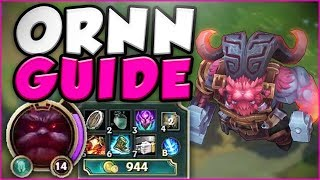 NOW THIS IS HOW YOU PLAY THE NEW CHAMP ORNN! NEW ORNN TOP GAMEPLAY GUIDE! - League of Legends