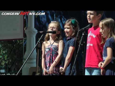 Patriotic Songs.  Cute Kids!