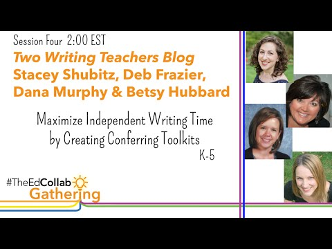 Maximize Independent Writing TIme by Creating Conferring Toolkits, K-5