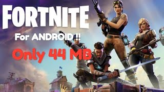 🔴(44MB)Download Fortnite For Android | HIGHLY Compressed |