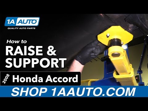 How to Raise and Support 08-12 Honda Accord