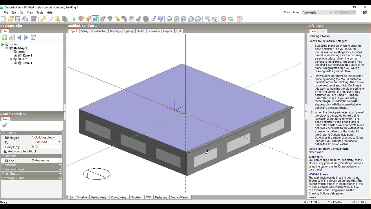 designbuilder tutorial  creating shading devices