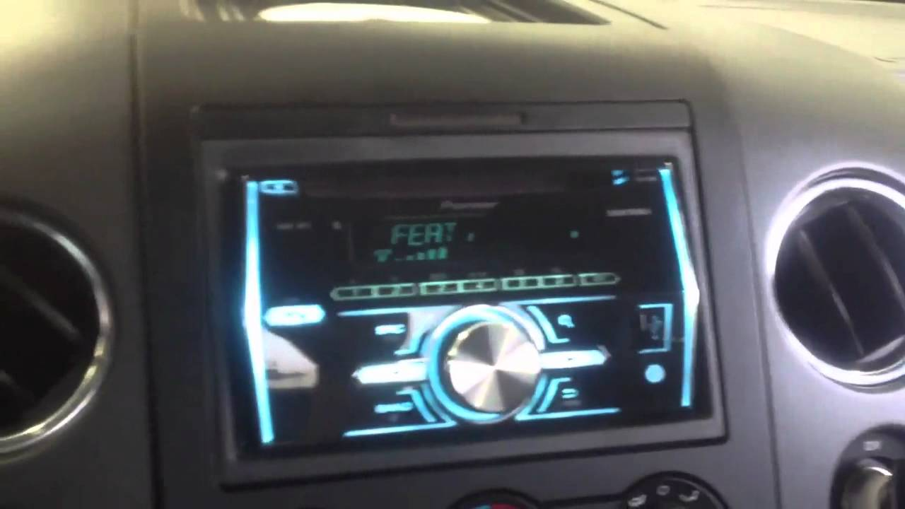 Ford F150 2013 Pioneer FHX700bt double din Bluetooth