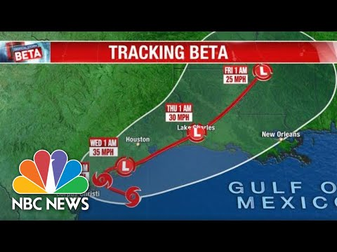 Live: Tracking Tropical Storm Beta | NBC News