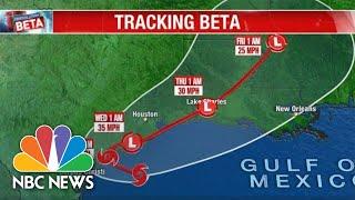 Live: Tracking Tropical Storm Beta   NBC News