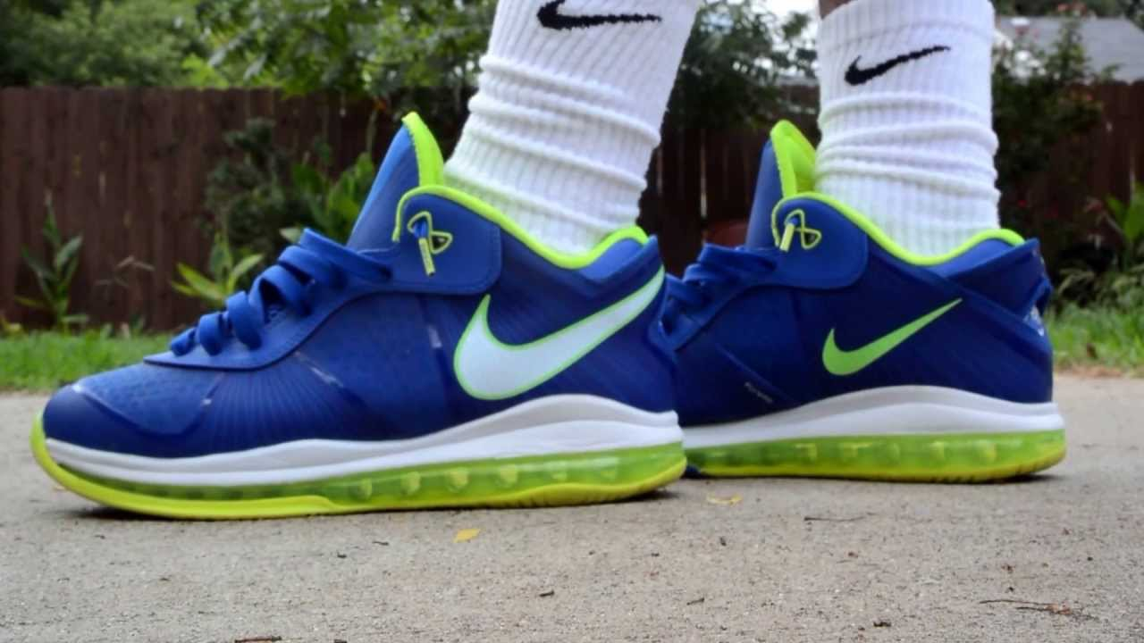 buy online 12865 0fe92 LeBron 8 Sprite On Feet - YouTube