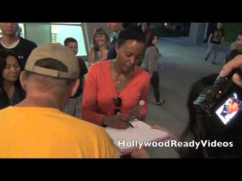 Aisha Tyler departs the Arclight movie theatre in Hollywood