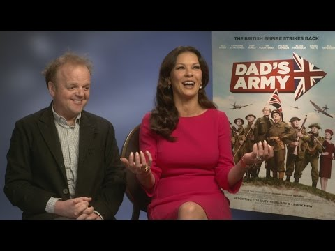 Catherine Zeta-Jones: 'I loved the attention' of Dad's Army