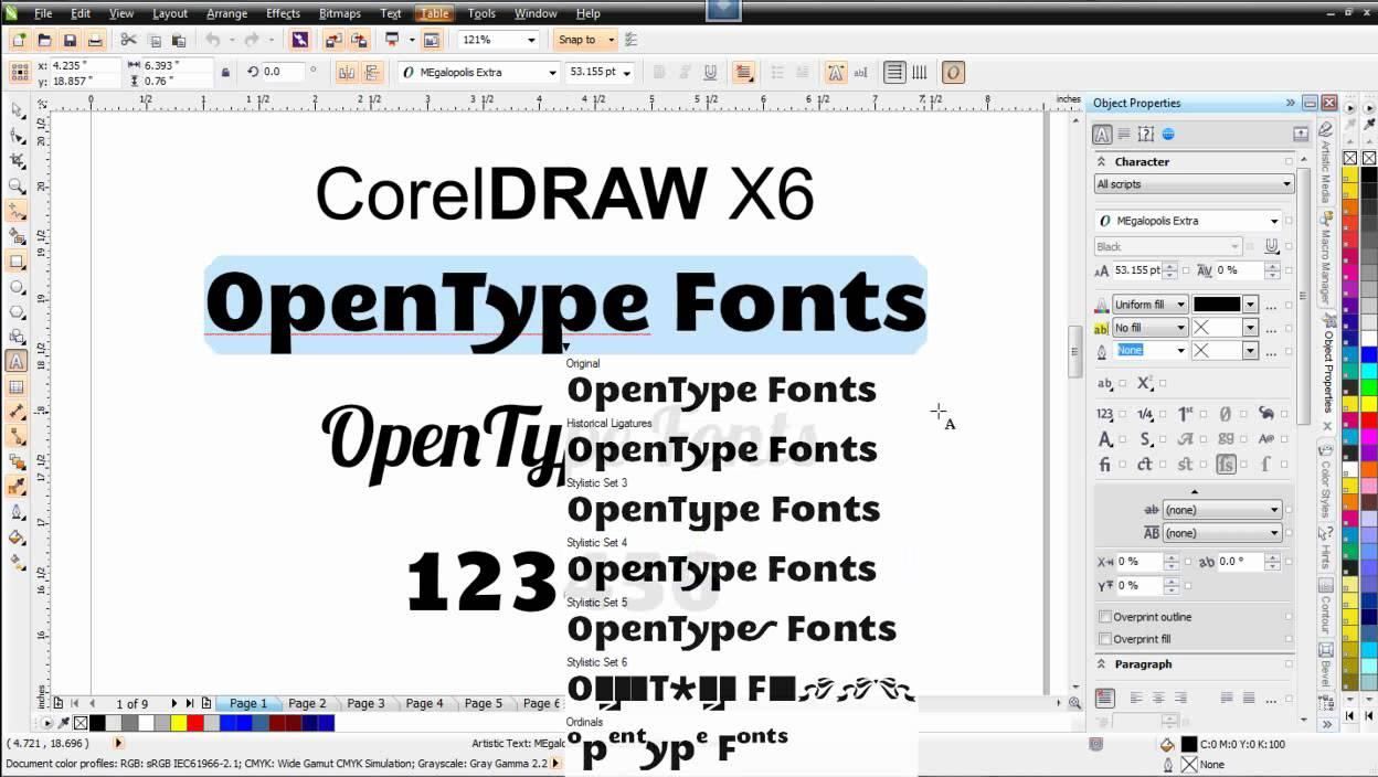 fontes para corel draw x5