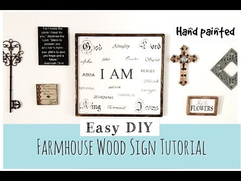 DIY Farmhouse Sign | Wood Sign Tutorial | momma from scratch