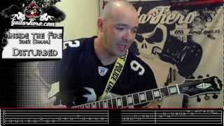 Como tocar Inside the Fire (Disturbed) 2de2 (Solos) by GuitarFiero