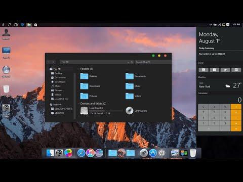 Flat Dark MacOS Theme For Windows 10/8.1/7 | Make Your Desktop Look Like Dark Mac