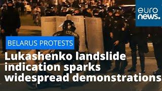 Belarus election protests: Lukashenko landslide victory sparks widespread demonstrations