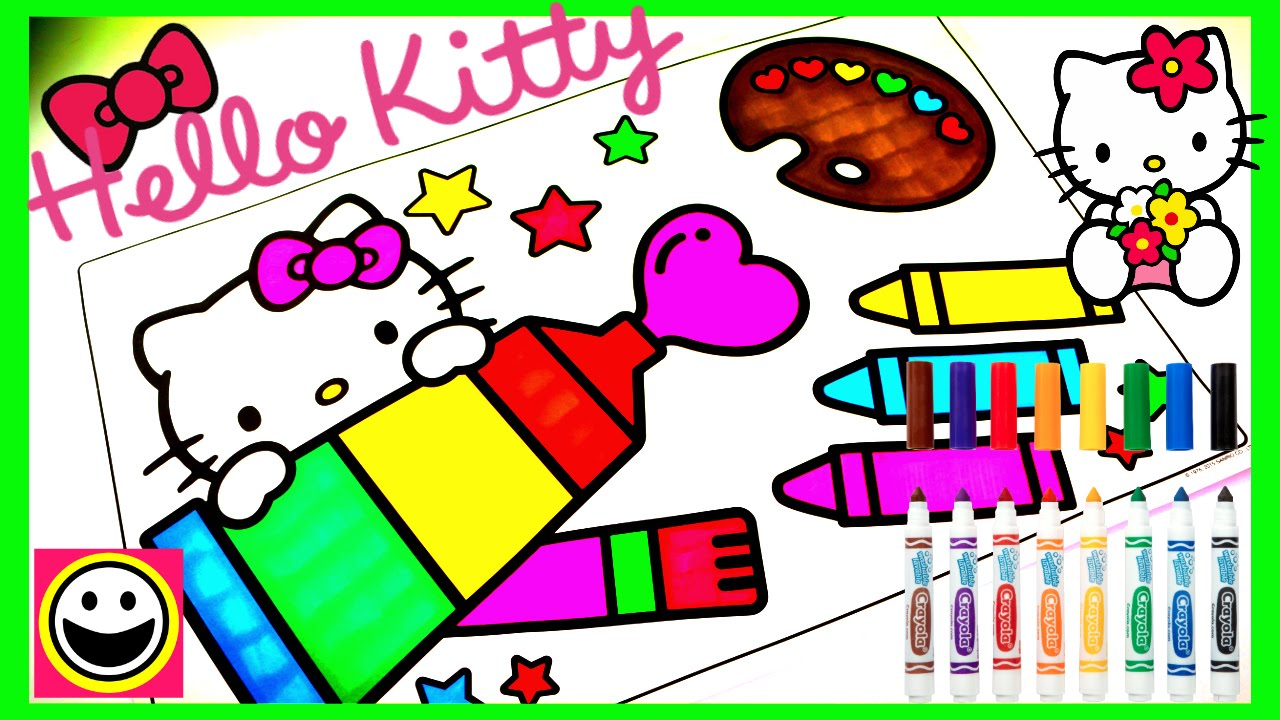 Crayola Coloring Pages Hello Kitty : Crayola hello kitty coloring pages book
