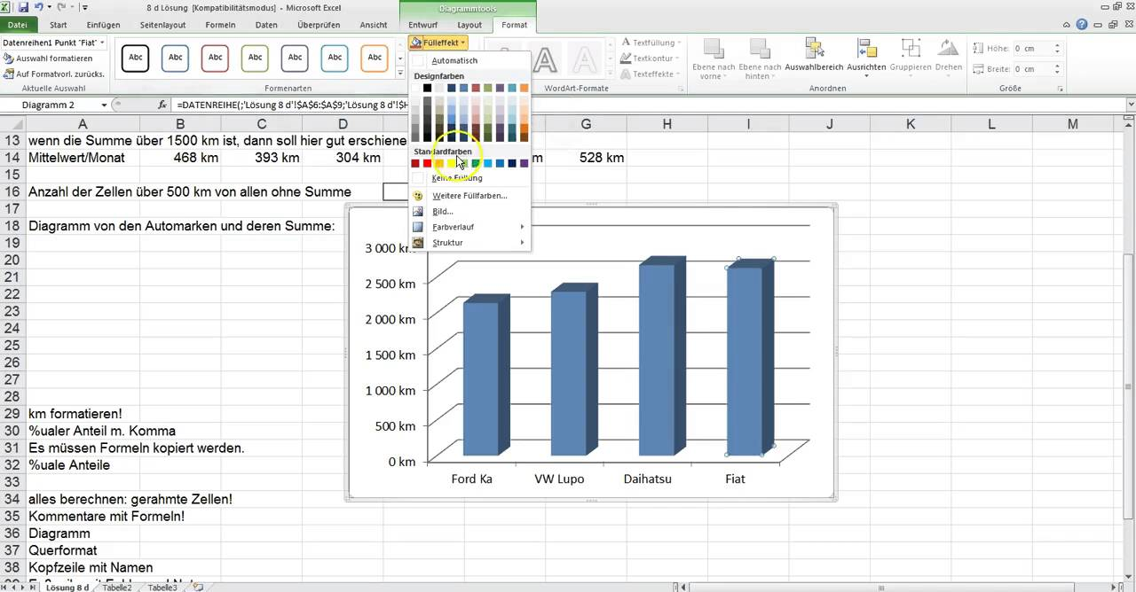 Diagramm In Excel Gestalten
