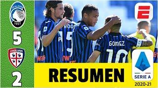 Atalanta 5-2 Cagliari GOLES de Luis Muriel, Papu Gómez y Duván Zapata. Diego Godín anotó | Serie A
