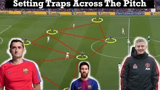 Tactical Analysis | Barcelona 3-0 Manchester United | (Goals Messi, Coutinho | How to set traps