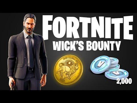 FORTNITE JOHN WICK 3 EVENT! FORTNITE 'WICKS BOUNTY' CHALLENGES! (SEASON 9 JOHN WICK REWARDS + LTM)