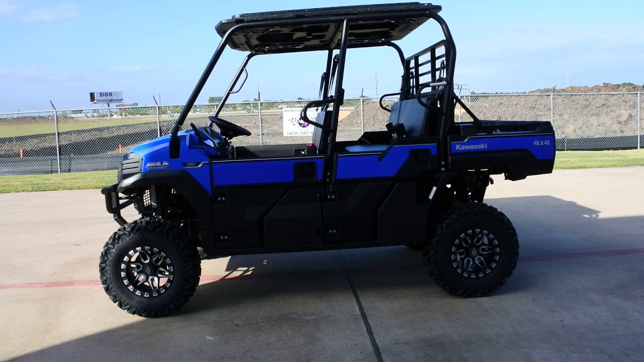 17899 Custom 2017 Kawasaki Mule Pro Fxt Eps Vibrant Blue Lifted