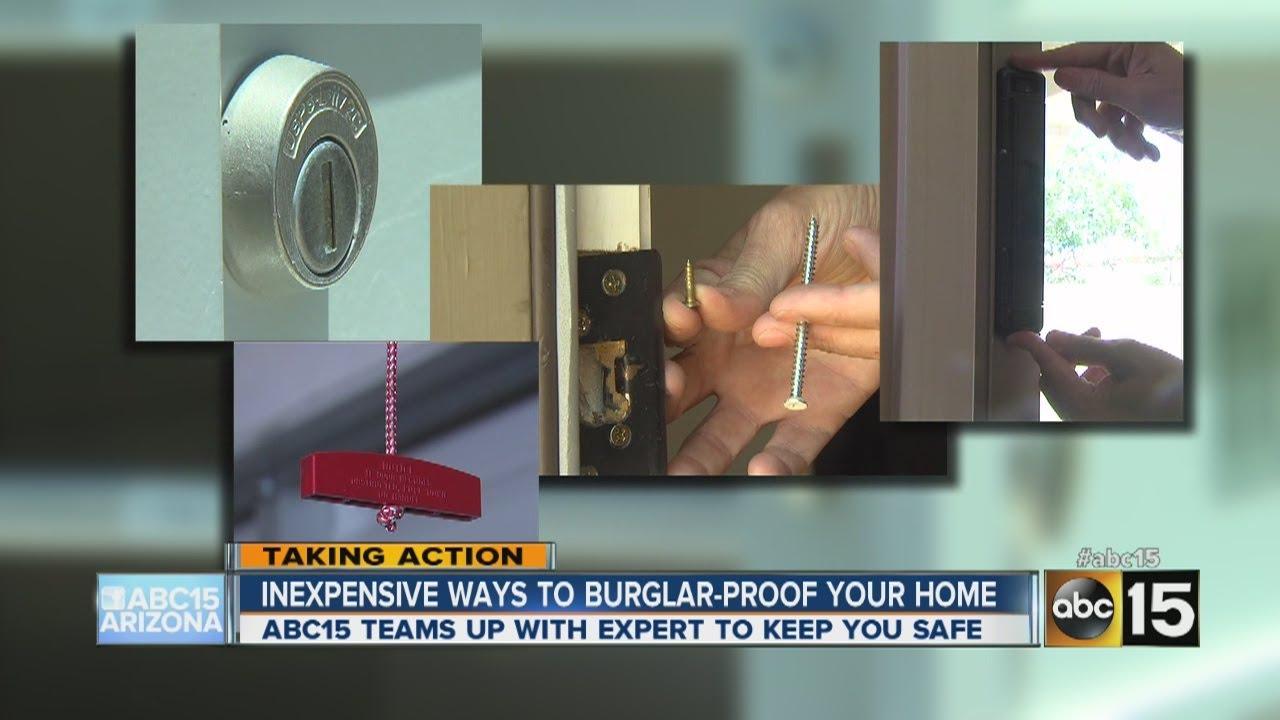 Inexpensive Ways To Burglar Proof Your Home Youtube