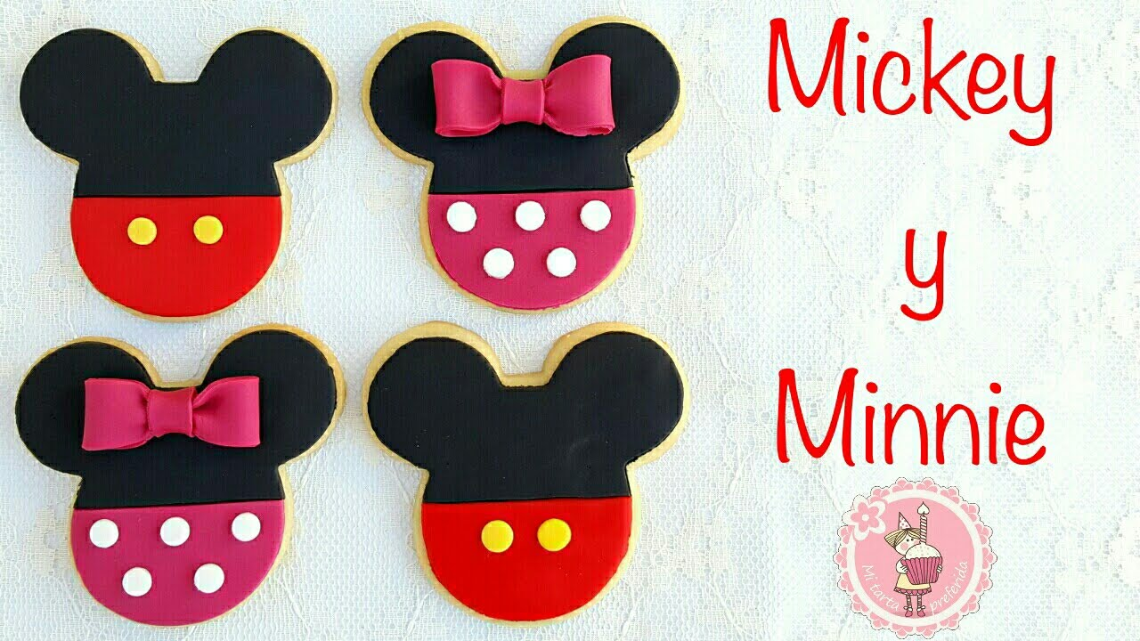 Como Decorar Galletas De Mickey Y Minnie Mousse Mi Tarta Preferida