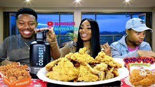 Popeyes Chicken with the Boys