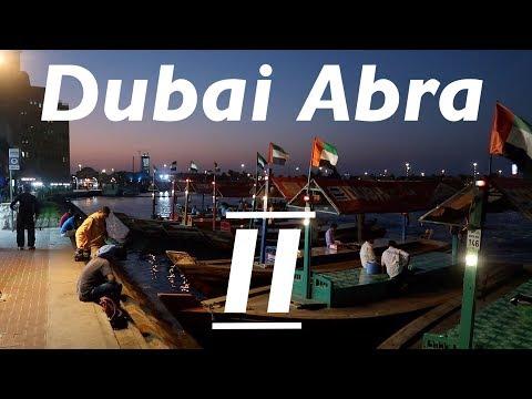 Abra ride across Dubai Creek from Gold Souk area to Textile Souk area