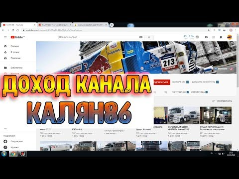 Доход канала КАЛЯН86