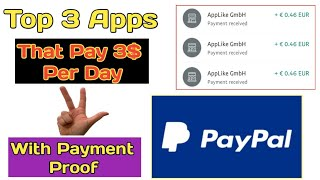 Top 3 Apps That Pay 3$ PayPal Cash Per Day With PayMent Proof || Tricks Hoster