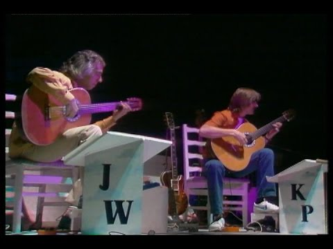 Rare Guitar Video: John Williams & Kevin Peek play Danza Paraguaya & Valse Criollo