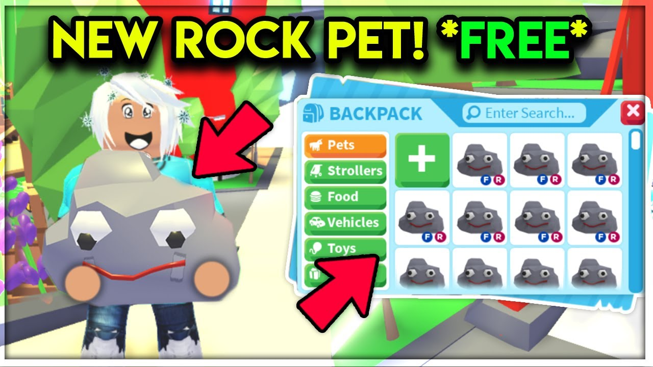 New Free Rock Pet Location Secret Update Adopt Me Roblox Youtube