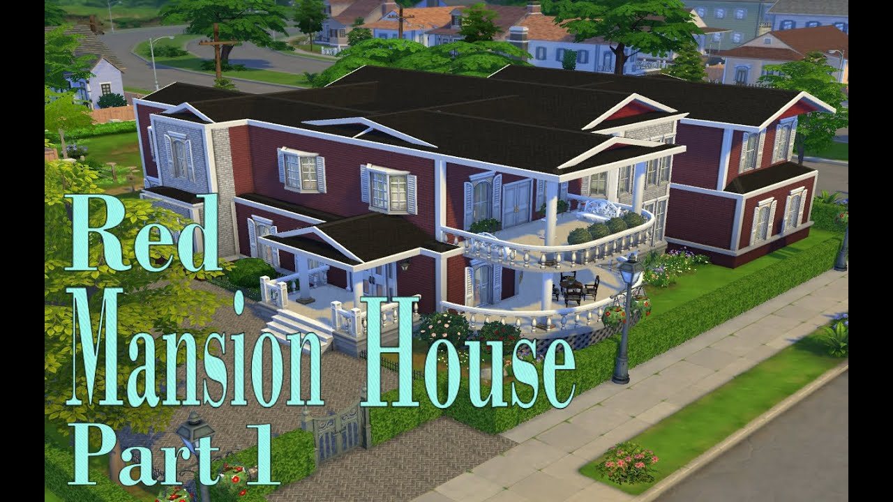 The sims 4 red mansion house part 1 base game simspinky for Classic house sims 4