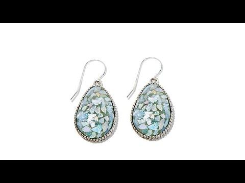 8741e9517 Noa Zuman PearShaped Roman Glass Drop Earrings - YouTube