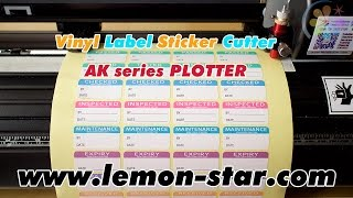 Sticker labels die cutting by AK vinyl cutter plotter