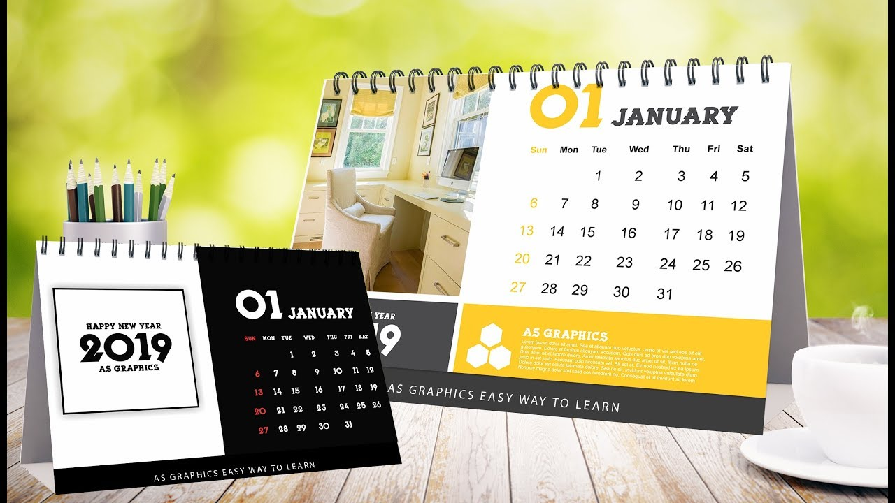 Desk Calendars Design In Coreldraw X7 Youtube