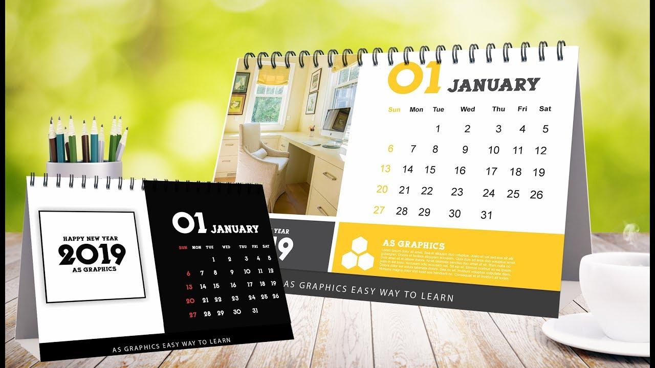 Desk Calendars Design In Coreldraw X7 Youtube