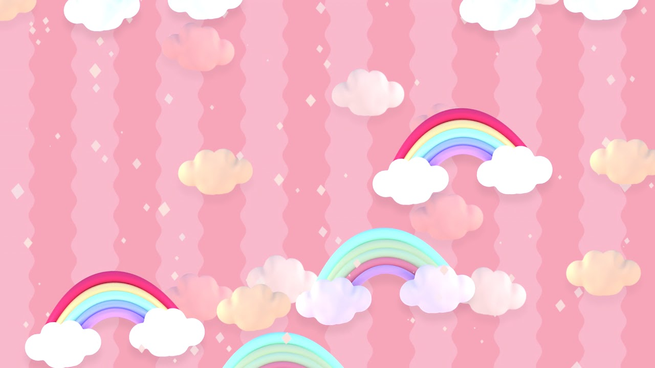 Pastel Clouds And Rainbow Background Youtube