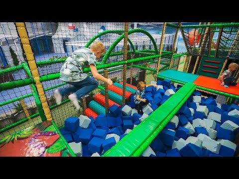 Foam Rubber Fun at Indoor Playground Play Center