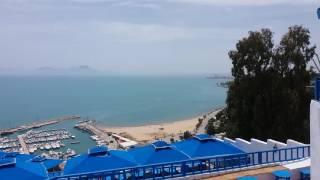 Сиди бу Саид (Тунис) , вид на море и синие крыши кафе. 27.04.2016(, 2016-05-26T11:49:24.000Z)