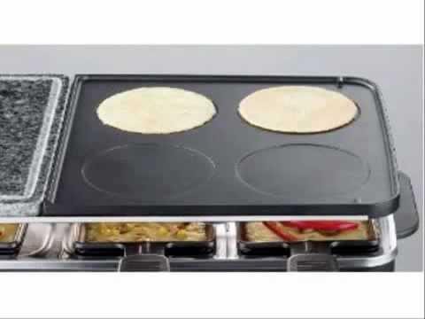 severin rg 2341 raclette party grill multifunzione 1400w. Black Bedroom Furniture Sets. Home Design Ideas