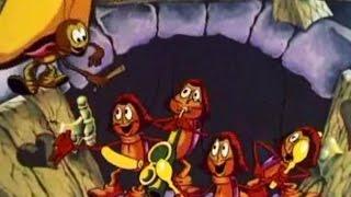Четыре таракана и сверчок - Веселая детская песенка и мультик