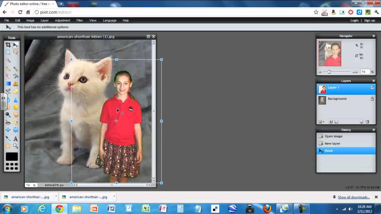 Superimpose a Photo Using PIXLR