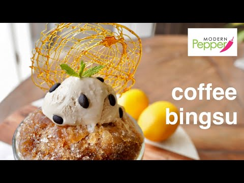 Coffee Bingsu: Korean Shaved Ice Dessert | NO Ice Shaving Machine Needed! 빙수 w/ Aero Press Coffee