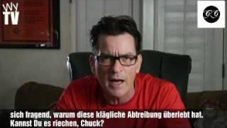 Charlie Sheen beleidigt Chuck Lorre! MUSS MAN GESEHEN HABEN!
