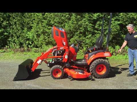 CS2210 & CS2510 Kioti Tractor W/ Loader & Mid Mower Walkthrough