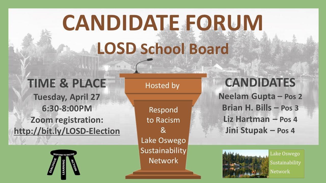 VIDEO: LOSD School Board Candidate Forum, April 27, 2021