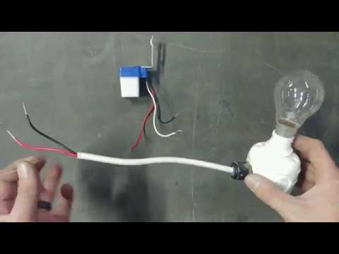 Wiring A Photocell Exterior Sign Day Night Or Light Switching Connecting Youtube